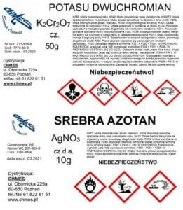 etykiety substancji chemicznych
