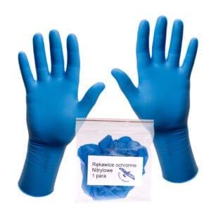 rękawice nitrylowe bezpudrowe